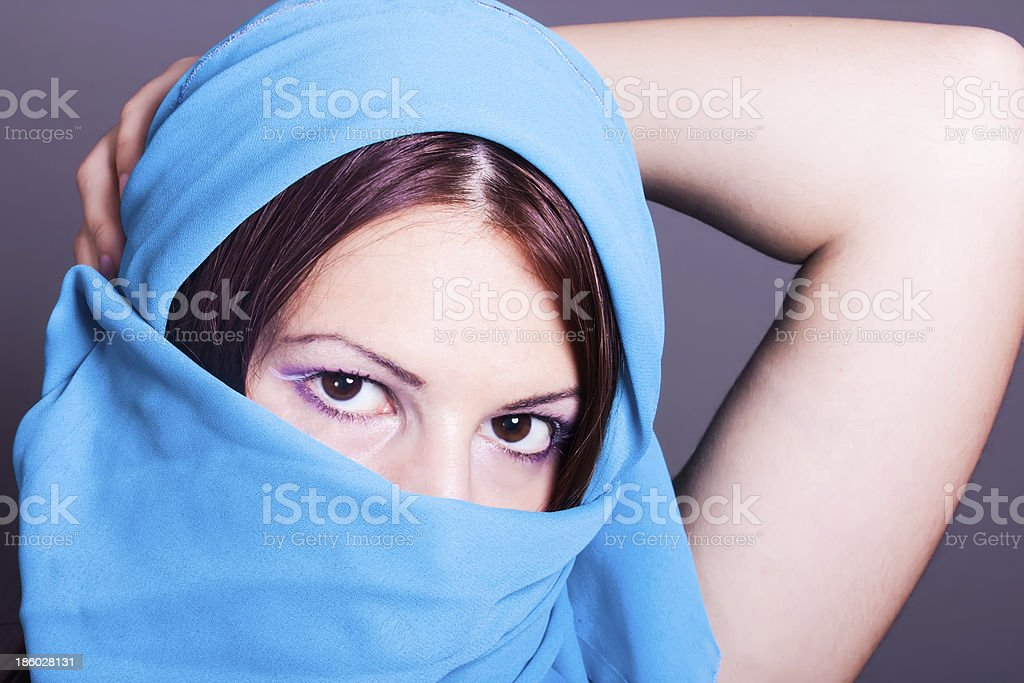 young arabic woman royalty-free stock photo