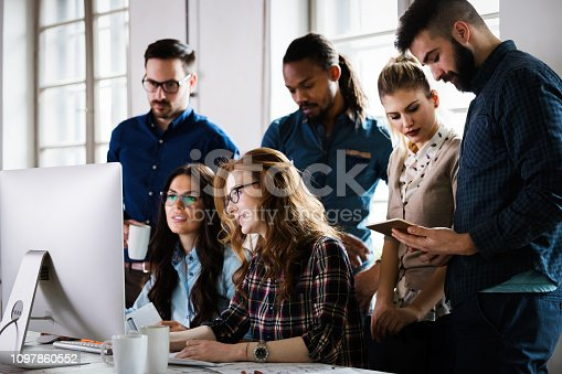 istock Young architects working on project in office 1097860552