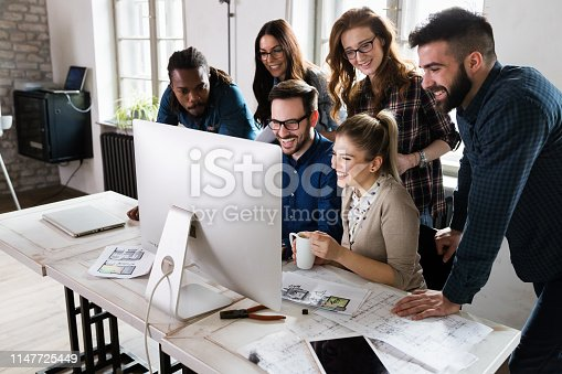 istock Young architects working on project in office 1147725449