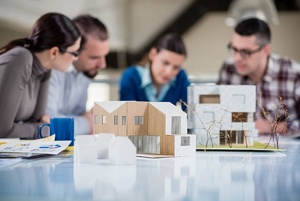 Young Architects Working Together stock photo