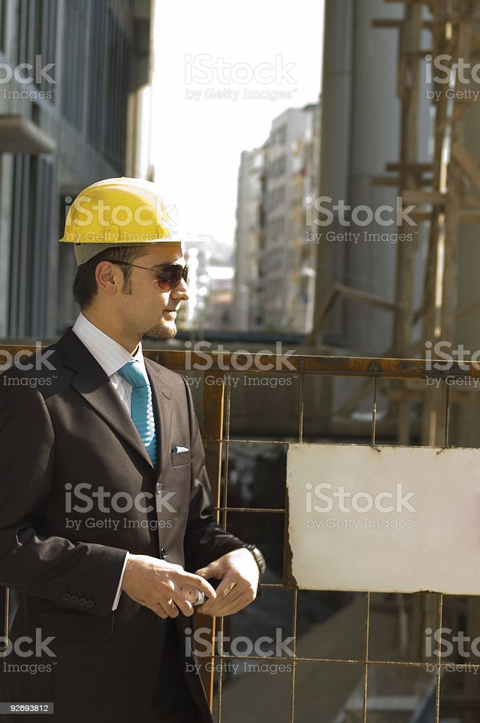 young arcitect royalty-free stock photo
