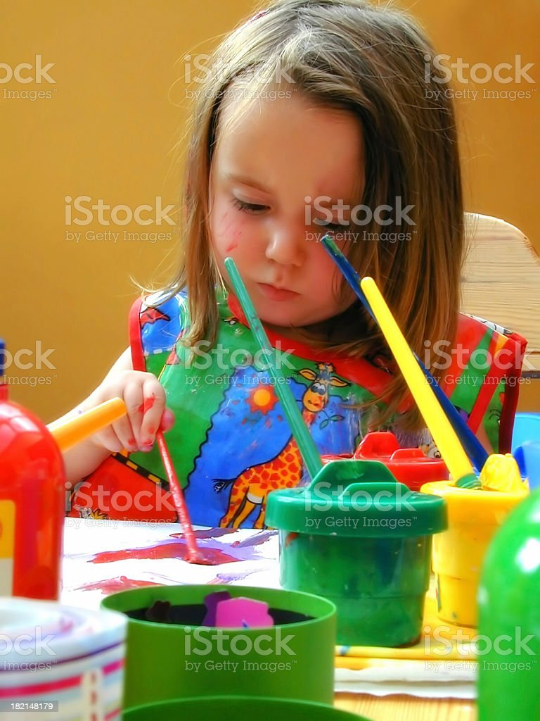 Young artist 1 royalty-free stock photo