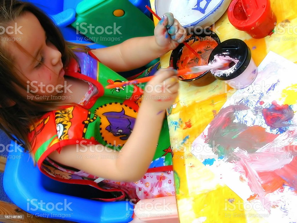 Young artist 2 royalty-free stock photo