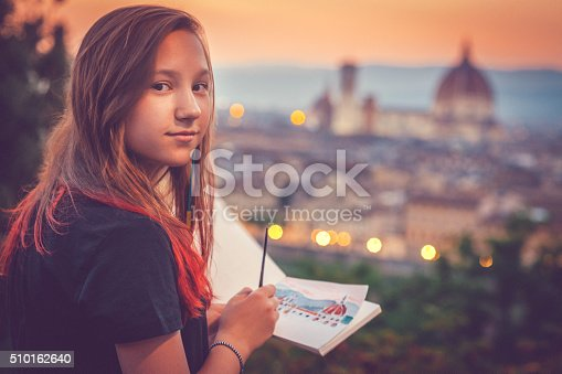 istock Young artist in Florence 510162640