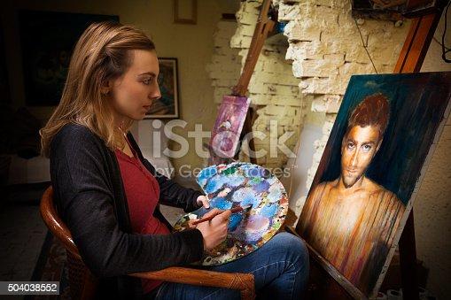 istock Young Artist in Studio 504038552