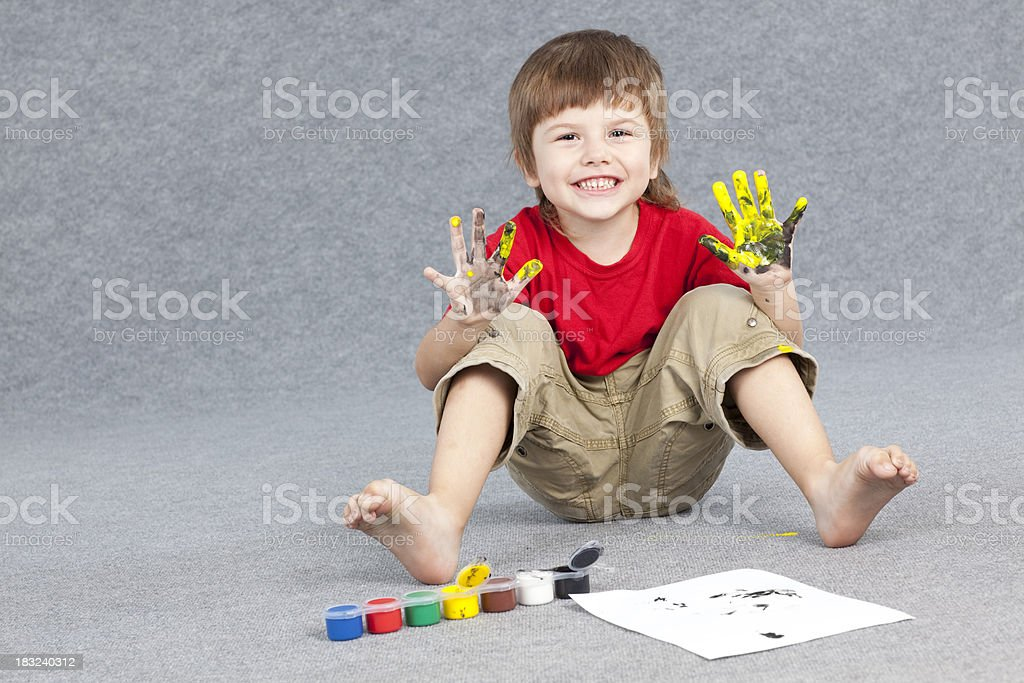 Young artist. stock photo