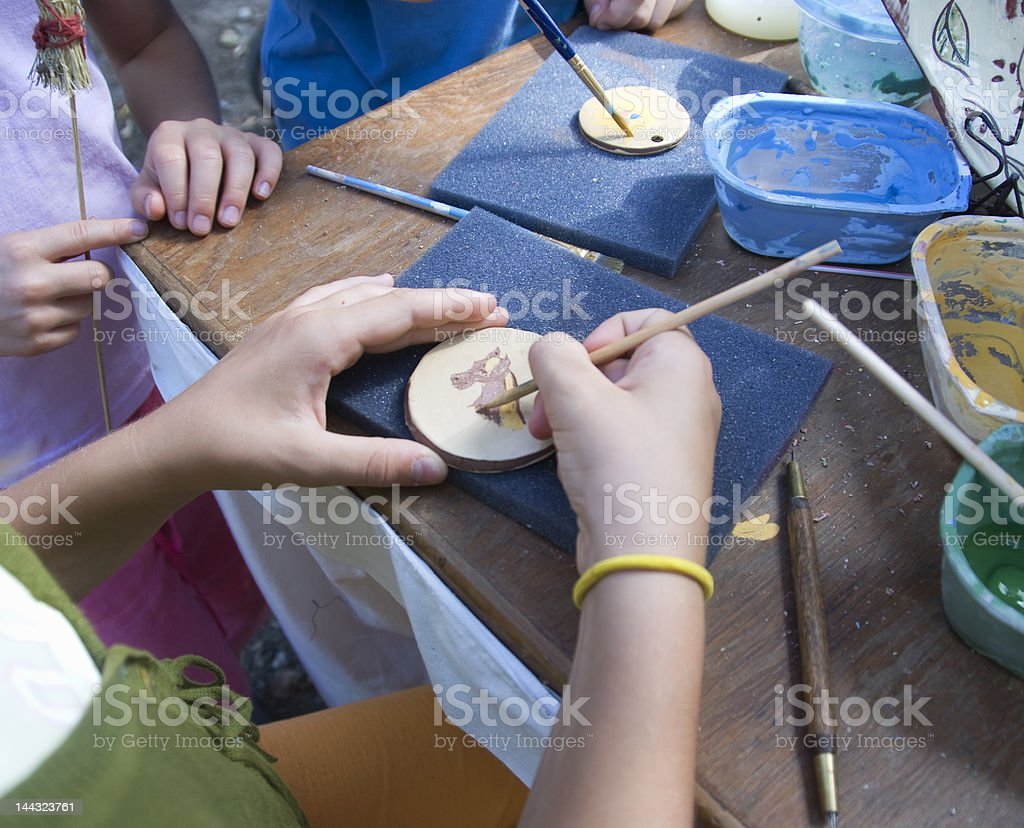 Young artists at work royalty-free stock photo