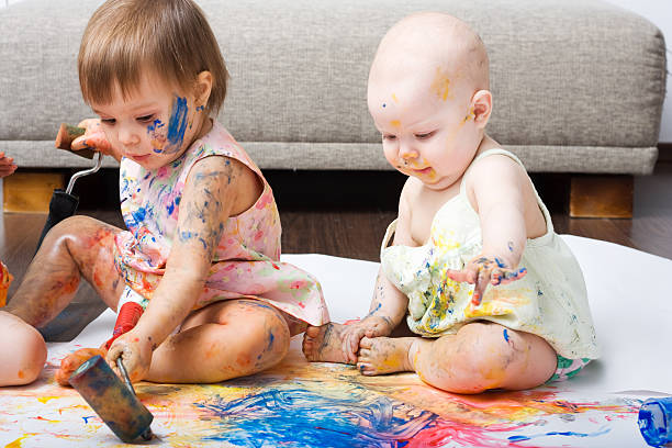 Young artists stock photo