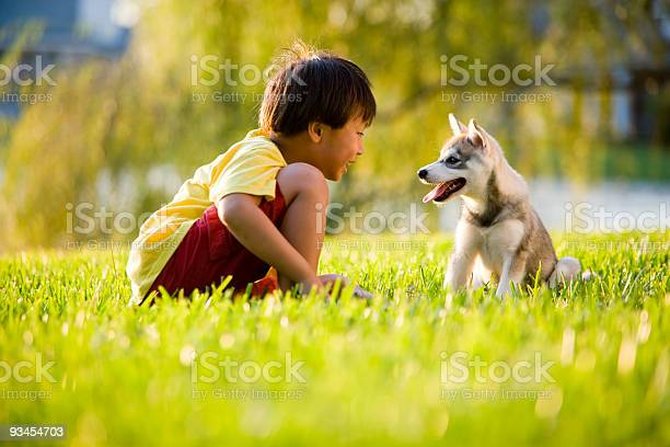 Young asian boy playing with puppy on grass picture id93454703?b=1&k=6&m=93454703&s=612x612&h=pynrxa3upr685eq prykzjx9nwntyoe91letwbmbdyw=