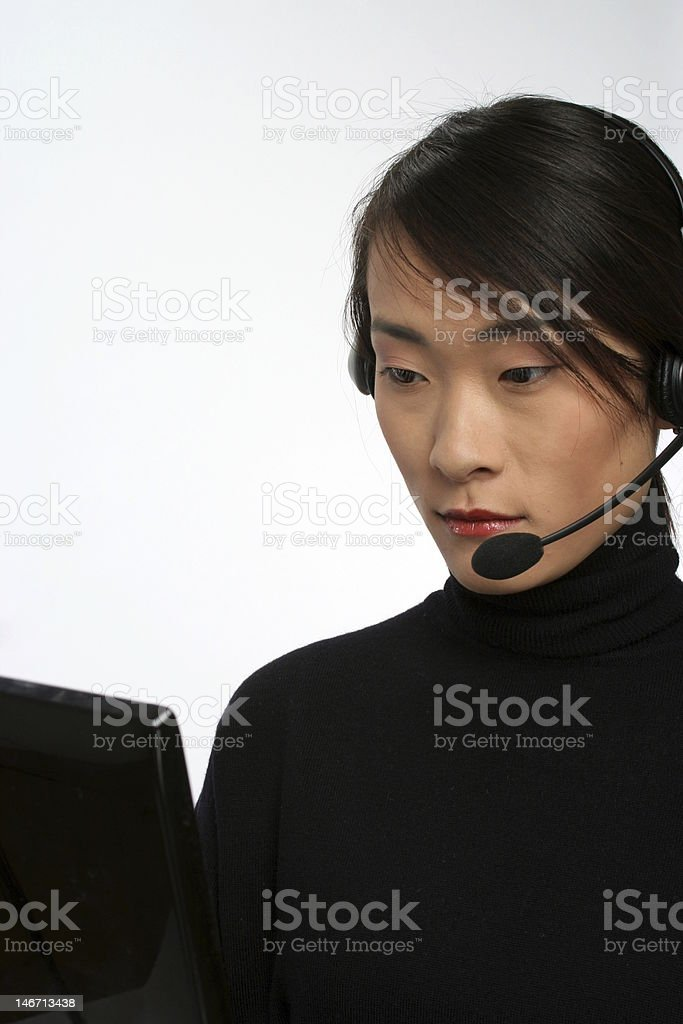 Young Asian Business Woman royalty-free stock photo