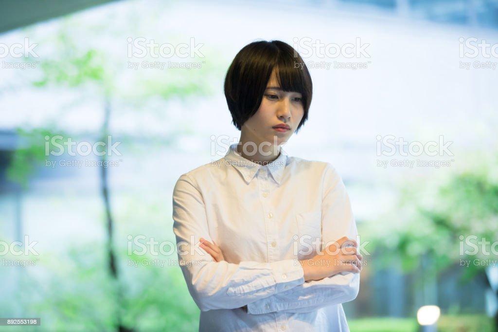 若いアジア ビジネスの女性の肖像画 ストックフォト