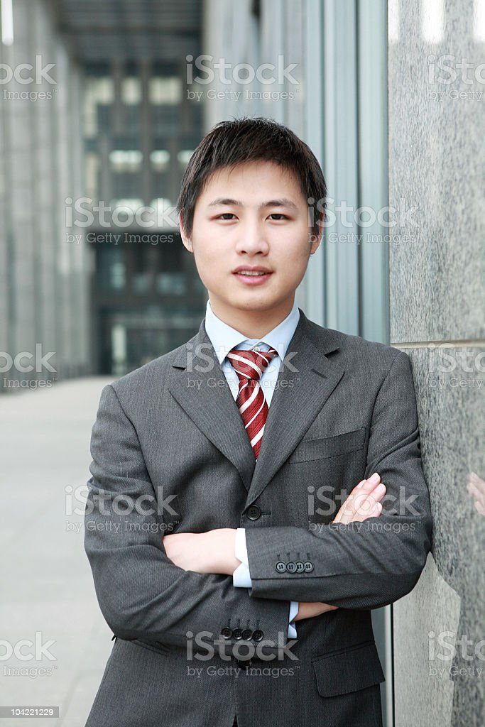 young asian businessman royalty-free stock photo