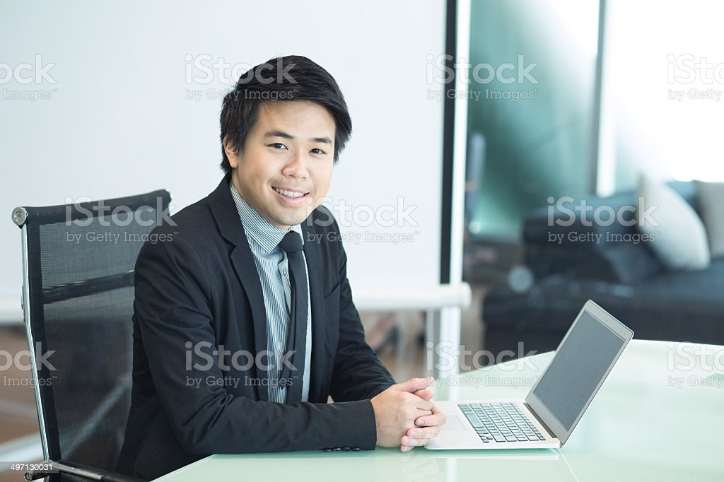 Young Asian Businessman stock photo