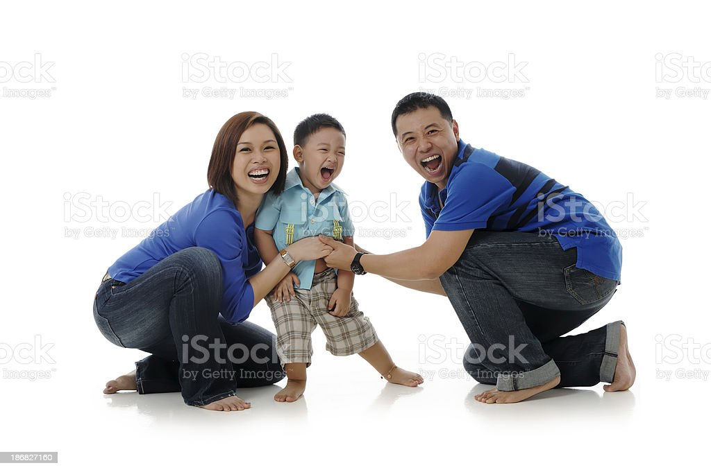 Young Asian Chinese family royalty-free stock photo