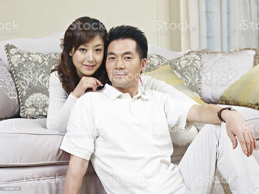 young asian couple royalty-free stock photo