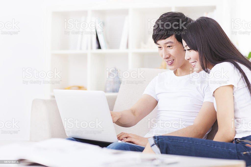 Junge asiatische Paar – Foto