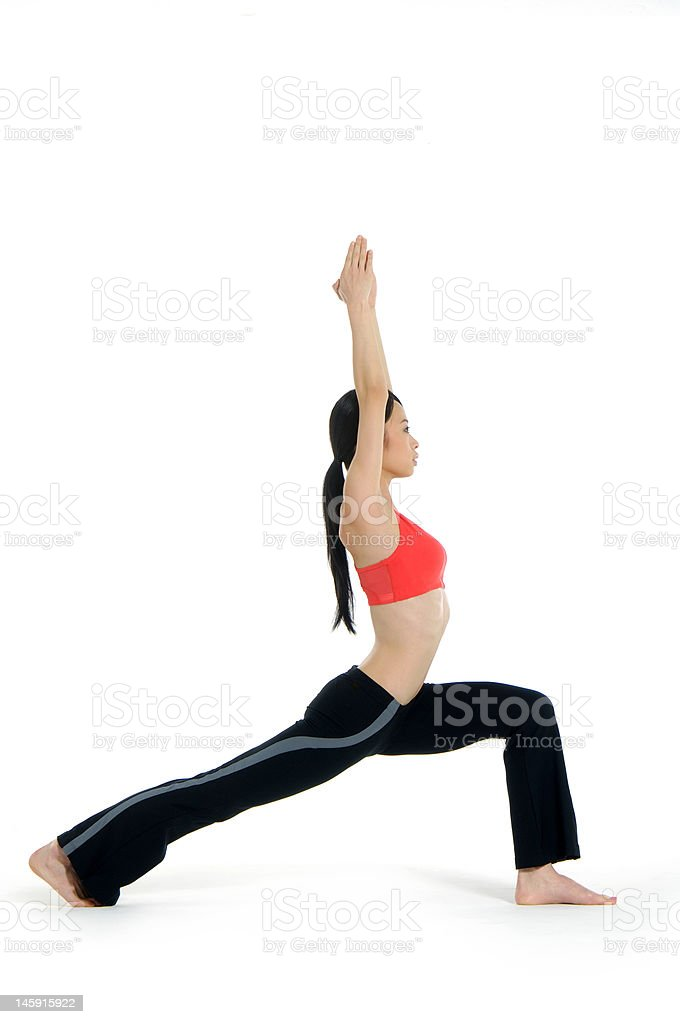 Young asian doing yoga royalty-free stock photo
