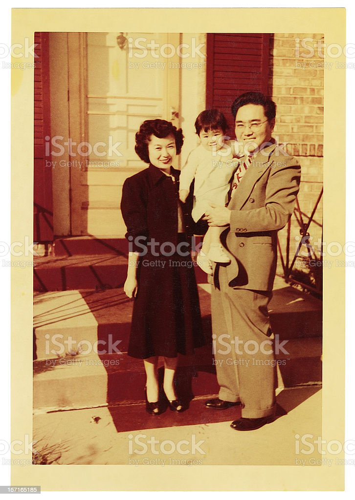 young asian family stock photo