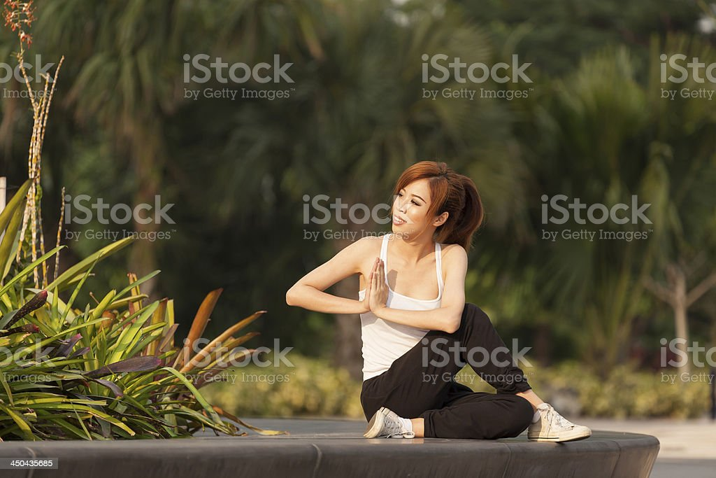 Young Asian Female Adult Healthy Lifestyle royalty-free stock photo