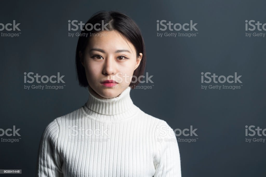 young asian female,portrait stock photo