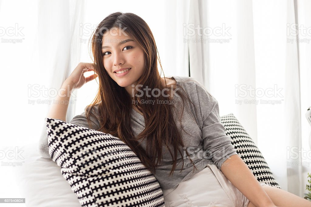 Young Asian girl stock photo