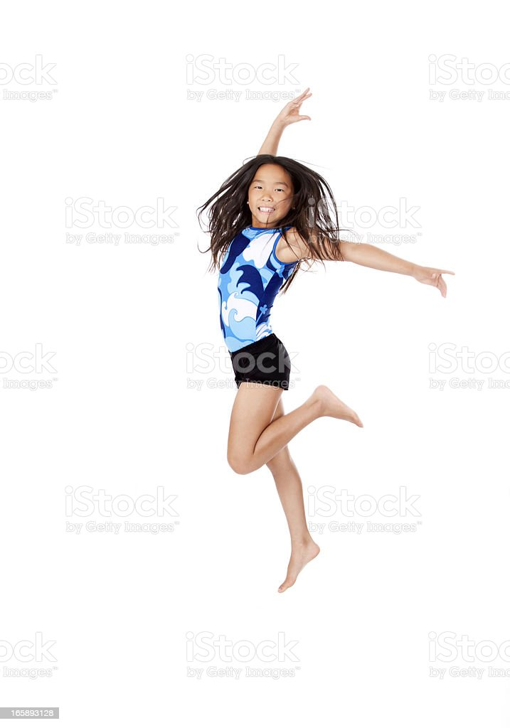 Young Asian Gymnast stock photo
