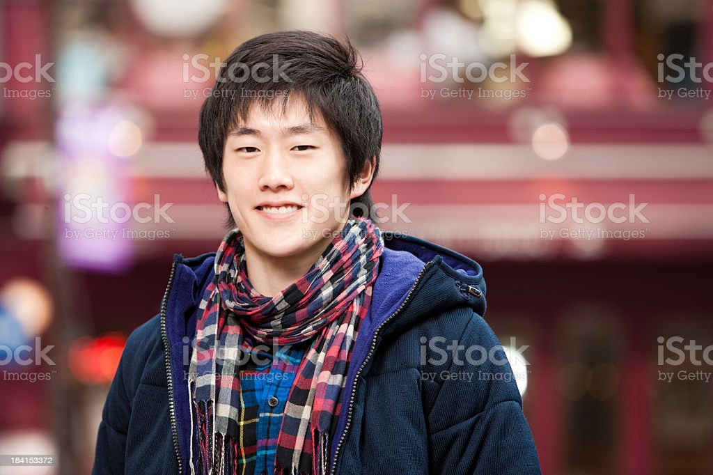 Young Asian Male Student royalty-free stock photo