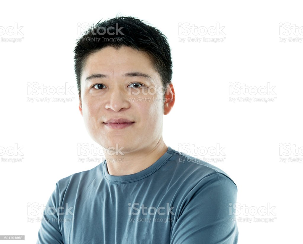 Young asian man isolated on white background foto stock royalty-free