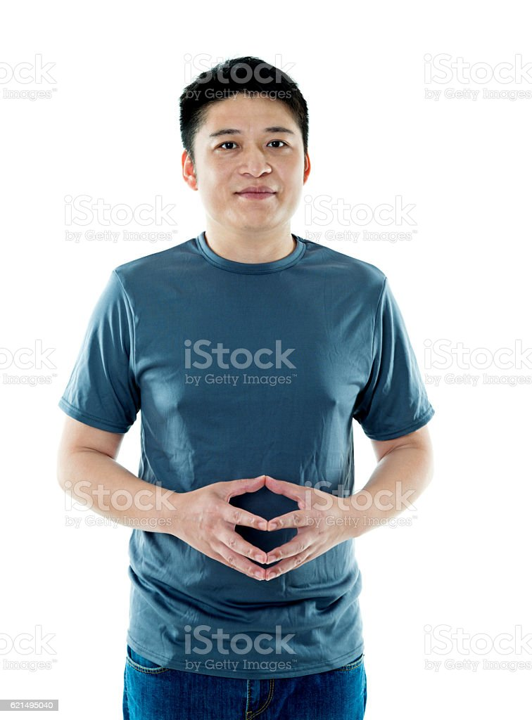 Young asian man isolated on white background photo libre de droits