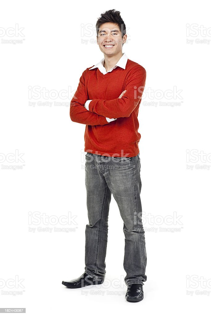 Young Asian Man (Isolated; XXXL) stock photo