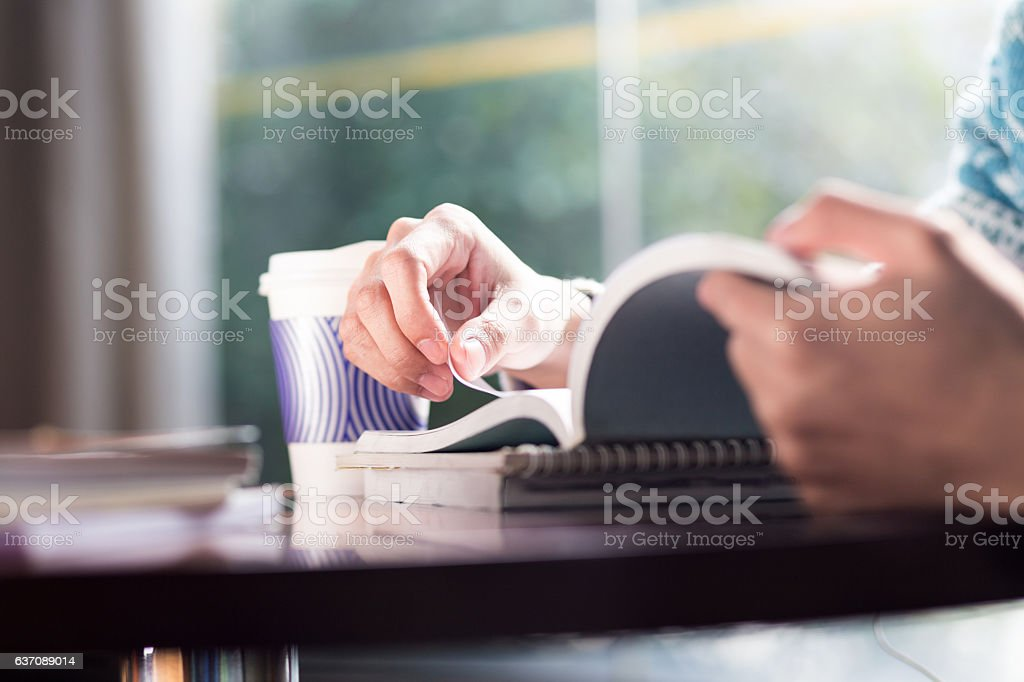 young asian man student studying in room stock photo