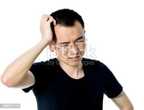 534891769 istock photo Young asian man suffering from headache 485374172