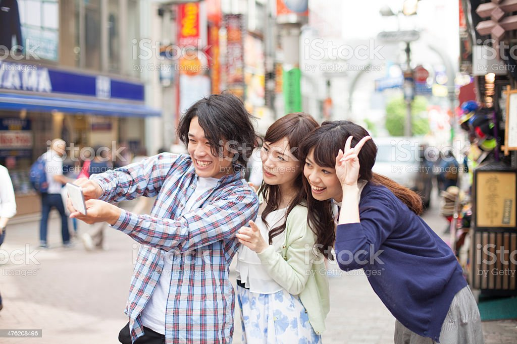 Asian People Taking Pictures