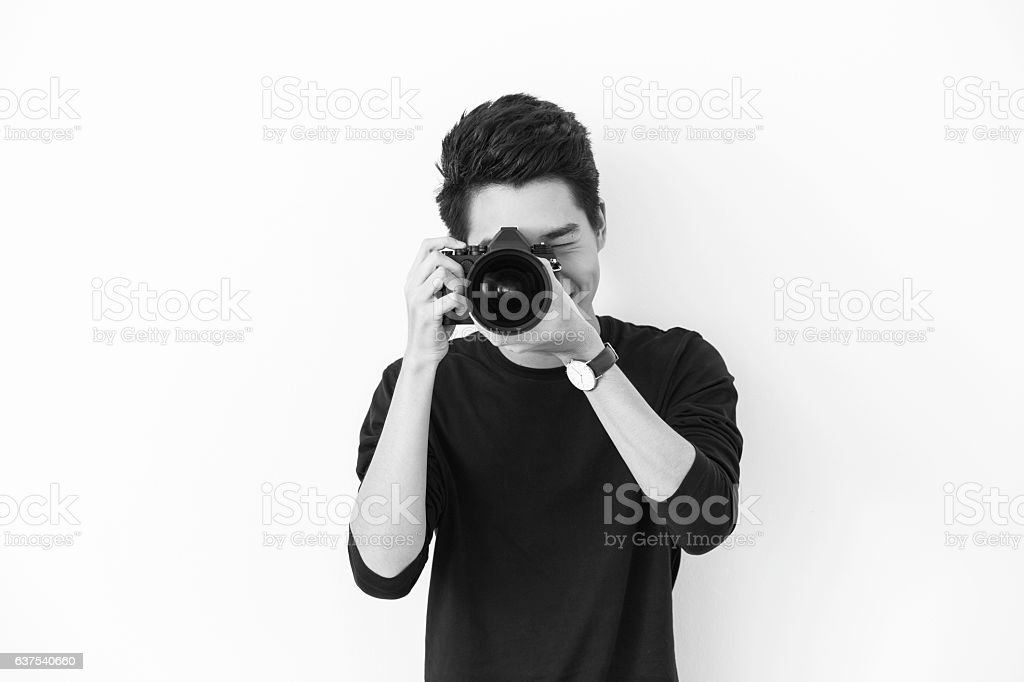 Young Asian Photographer stock photo
