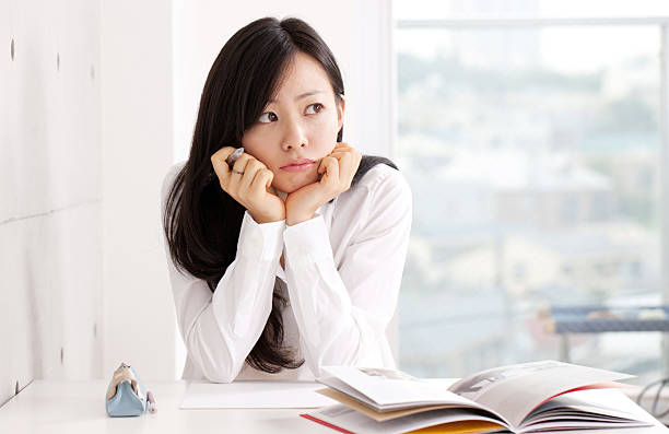Young Asian Estudiante - foto de stock