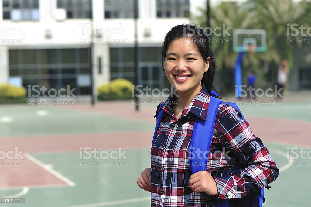 young asian student royalty-free stock photo