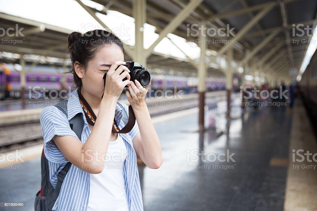 Young Asian Traveler foto stock royalty-free