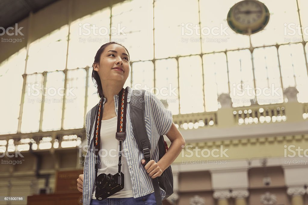 Young Asian Traveler stock photo