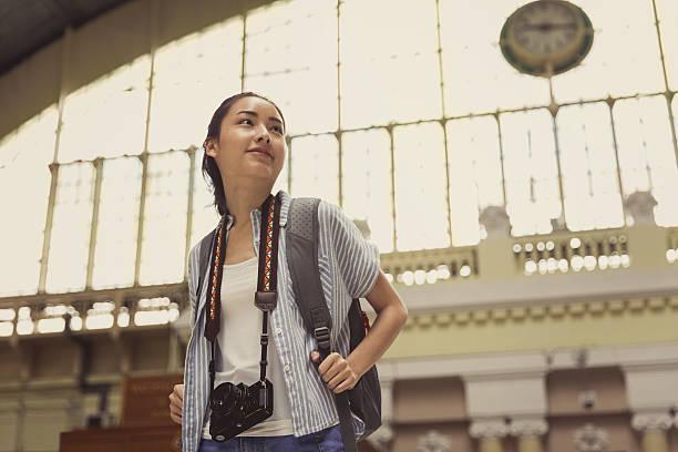 Young Asian Traveler stock photo