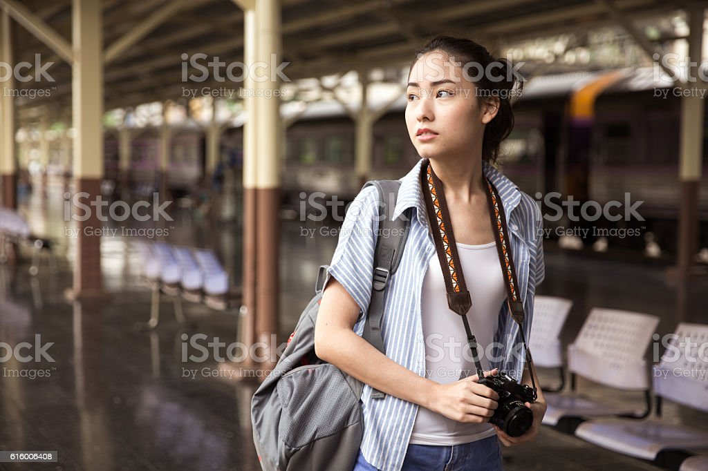 Young Asian Traveller - Photo