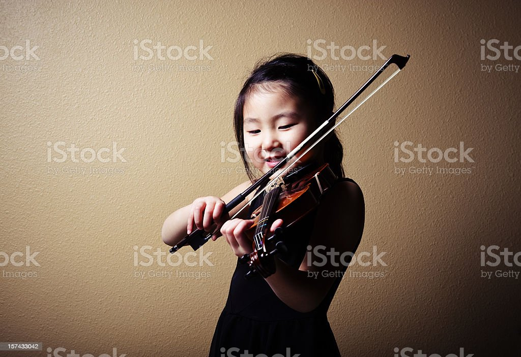 Young Asian Violinist royalty-free stock photo