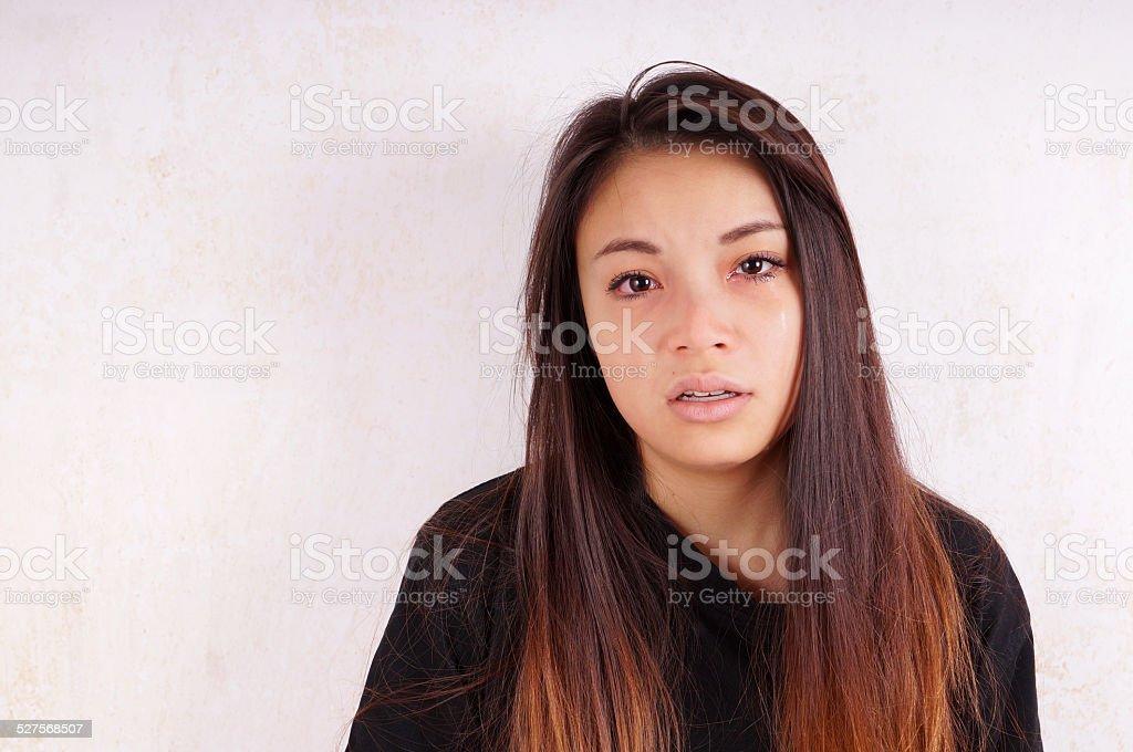 Junge asiatische Frau Weinen – Foto
