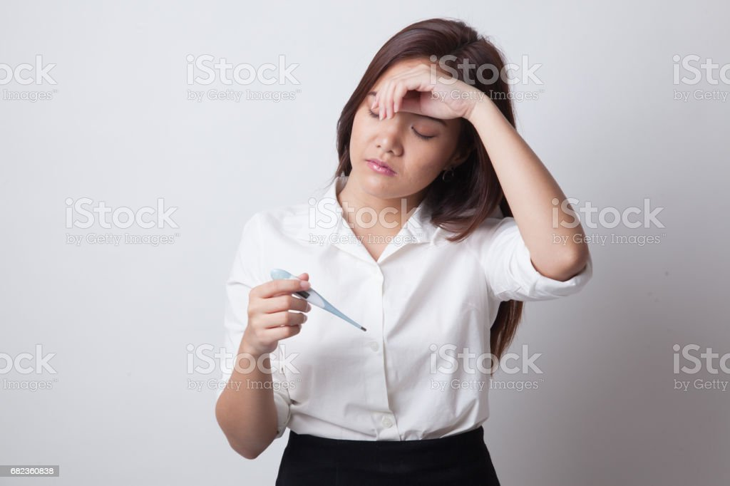 Young Asian woman got sick and flu. foto stock royalty-free
