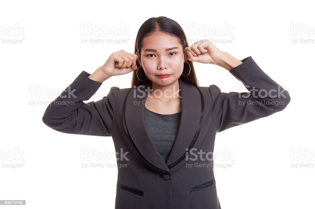 Young Asian woman sad and cry. royalty-free stock photo