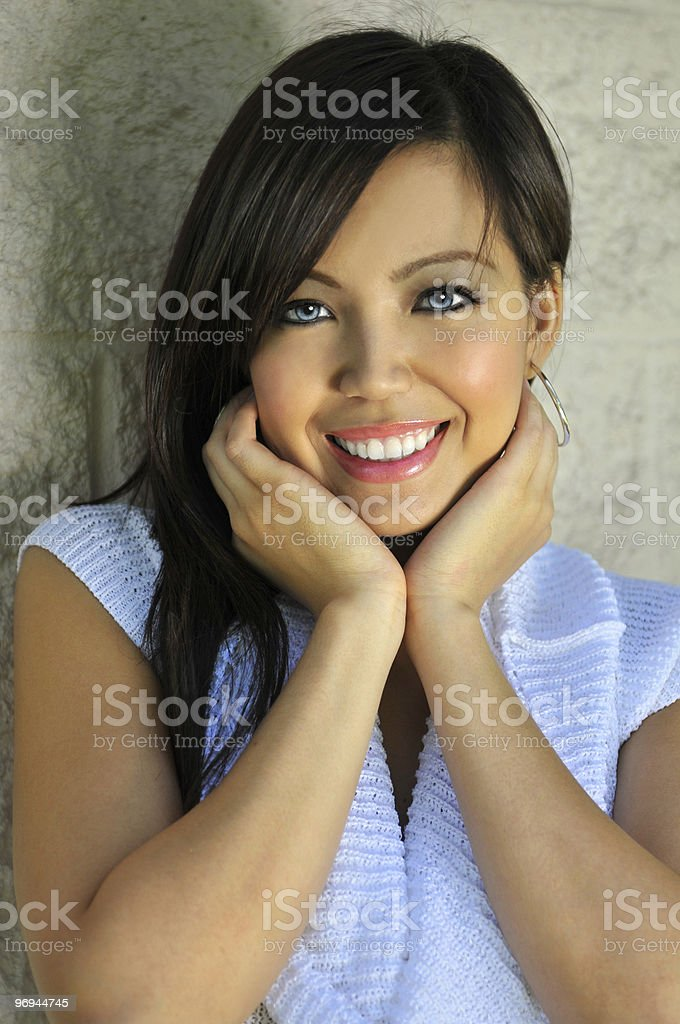 Young Asian Woman Smiling royalty-free stock photo