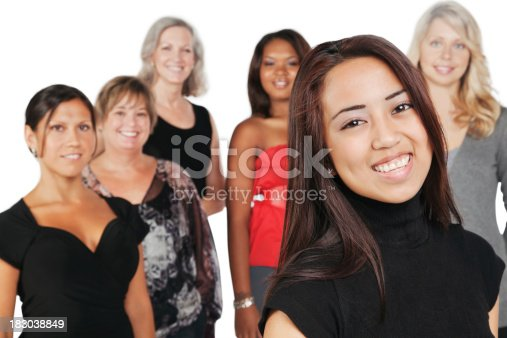 536775759istockphoto Young Asian Woman With Group of Happy Women 183038849
