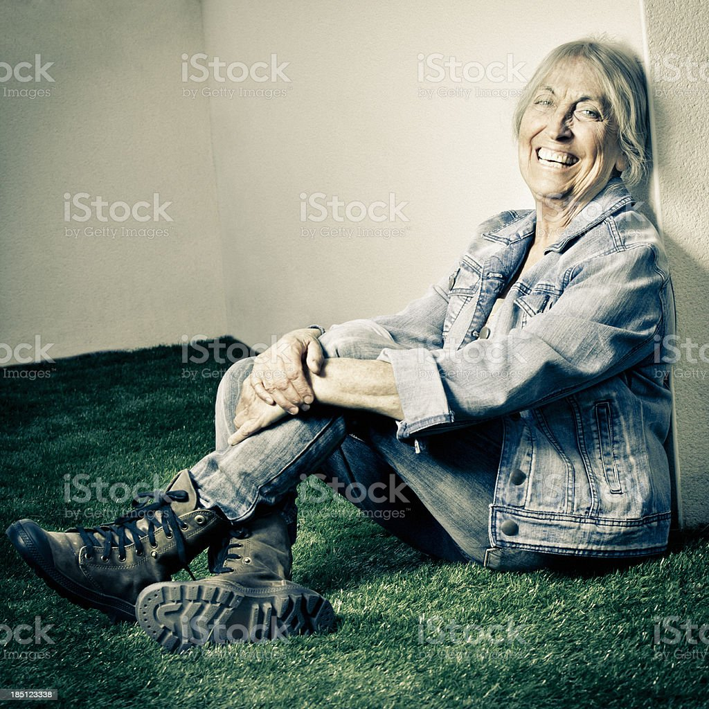 Young at heart royalty-free stock photo