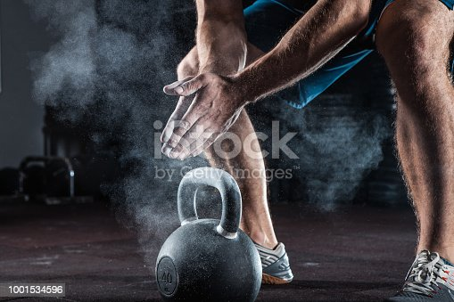 944655208 istock photo Young athlete getting ready for training 1001534596