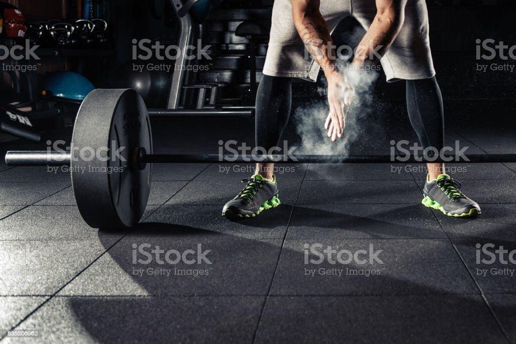 Junge Sportler, die immer bereit für das training – Foto
