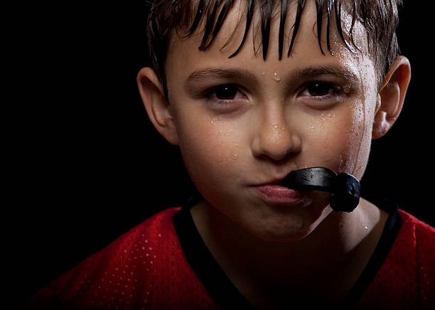 Young athlete stock photo